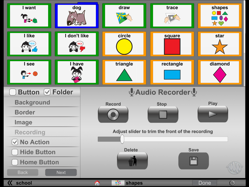 """Press """"Save"""" in the bottom right to apply the recording to the button."""